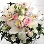 Букет невесты орхидеи и розы